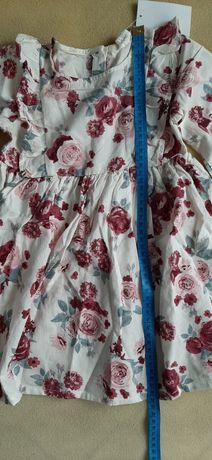 92 h&m sukienka róże
