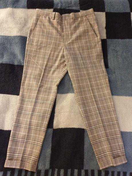 Spodnie garniturowe w kratkę Zara