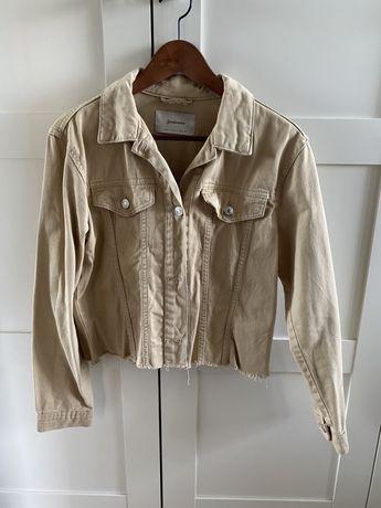 Nowa beżowa kurtka jeansowa stradivarius