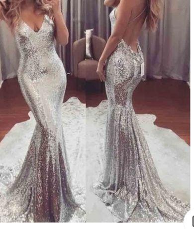 Piekna nowa długa sukienka