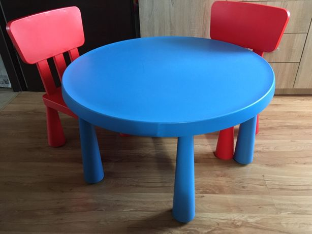Ikea mammut stół 85 cm + 2 krzesełka