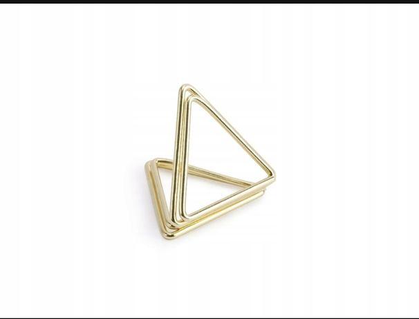 Stojaki na winietki Trójkąty, złote, 2,3cm 55 szt