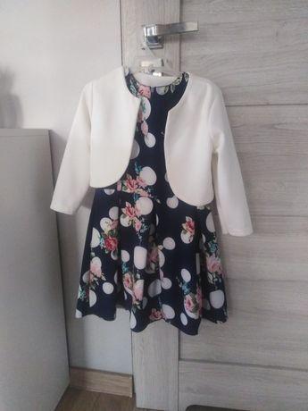Sukienka +bolerko 134 stan idealny