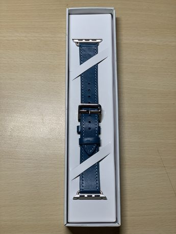 Ремешок Hermes Loop Singl Tour (Blue Spruce) для Apple Watch 38/40mm