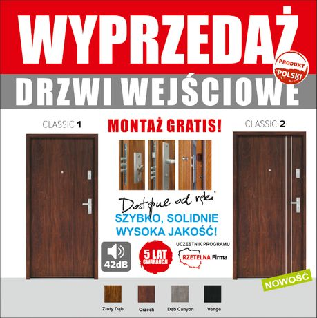 Drzwi do mieszkań antywłamaniowe wyciszone z montażem od 980 zł.