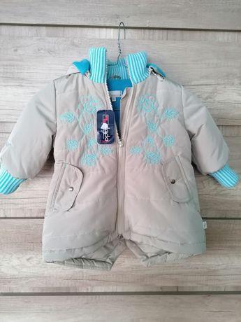Nowa kurtka kurteczka płaszczyk dla dziewczynki rozmiar 80 mmDadak