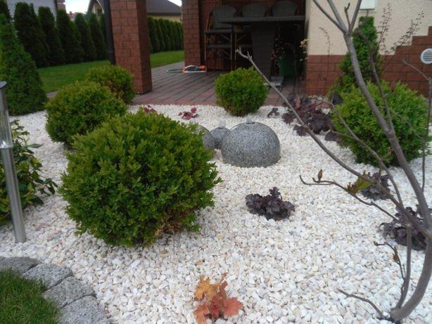 Grys Biała Marianna 10-16 mm - elegancki kamień ozdobny do ogrodu