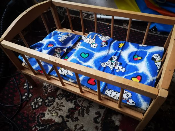 Łóżeczko dla lalek drewno bukowe