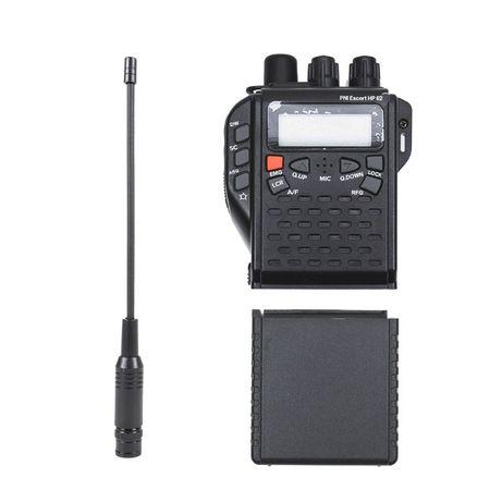 CB radio ręczne Pni HP62 z anteną BNC i koszykiem na baterie