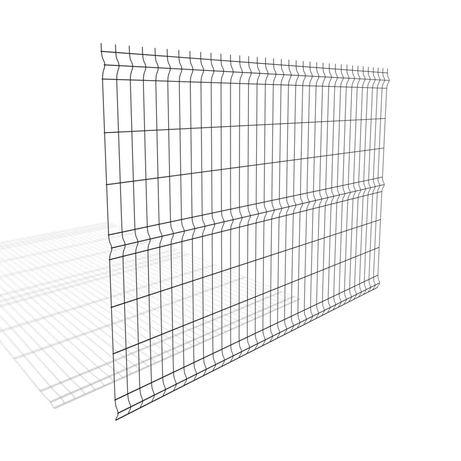 Panele ogrodzeniowe 1530x2500 mm grafitowy fi 5 mm