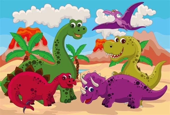 Painel festa dinossauro 120*80 cm