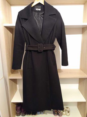 Czarny Płaszcz z paskiem w talii,  Answers, rozmiar s