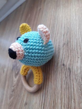 Grzechotka, zabawka na szydełku, ręcznie robiona! 13 cm