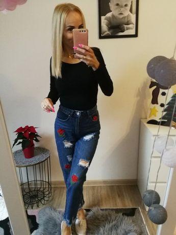 Jeansy z wysokim stanem CROPP rozmiar XS