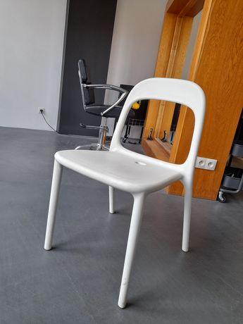 Krzesła, białe, 4 szt.