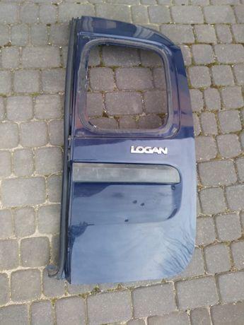 Dacia logan MCV r04-08 drzwi bagażnika prawe (małe) granatowe