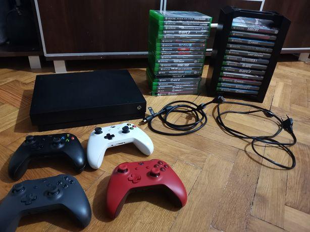 Xbox One X 1TB Pady Stojak na Gry Fifa 21 Ufc 4 Valhalla  Zamiana