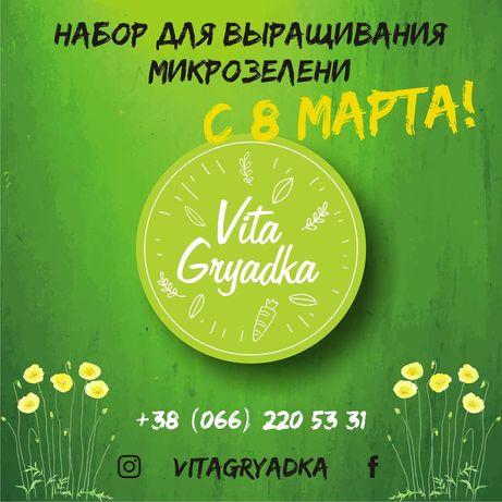 Набор для выращивания микрозелени к 8 марта