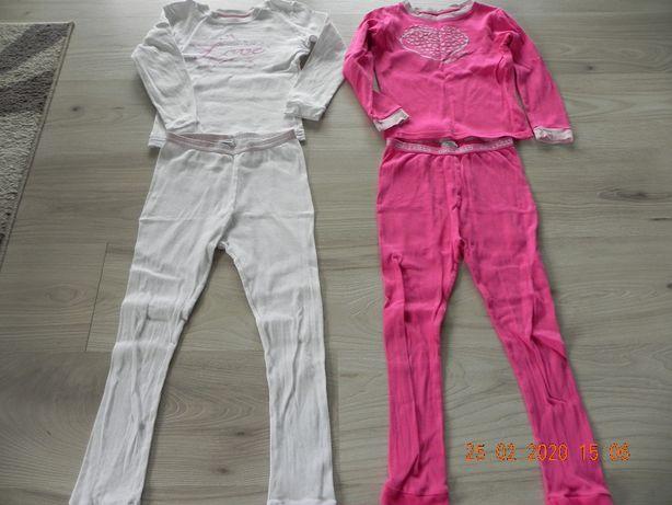 dwie piżamy 110/116 bawełna 100%