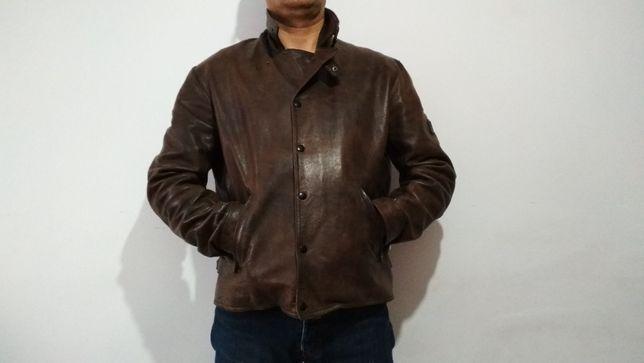 куртка кожанная belstaff не harley davidson мужская размер XL