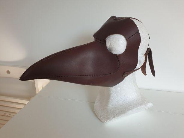 Maska LEKARZ PLAGI skórzana (maska ptaka)