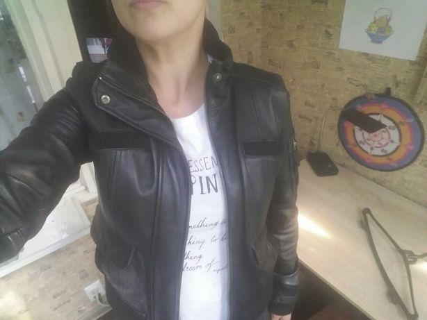 кожаная куртка, женская кожаная куртка, куртка Mango. кожа