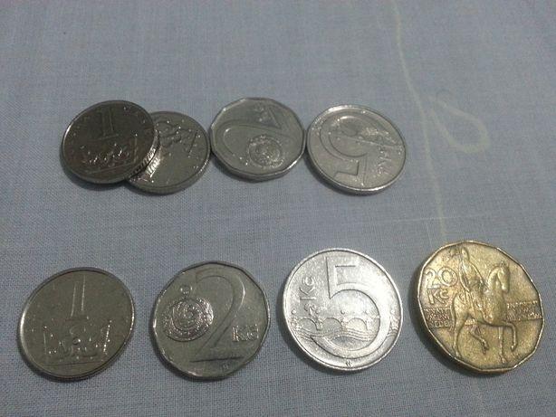moedas da rep. checa, romenia, turquia, ucrania