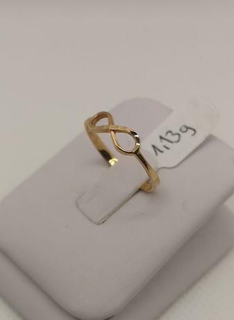 Nowy złoty pierścionek, nieskończoność. Rozm.16,5. Złoto pr.585