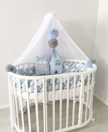Бортики постельный комплект в детская кроватка , кокон , конверт