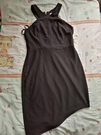 Вечернее чёрное платье женское, размер L(46)