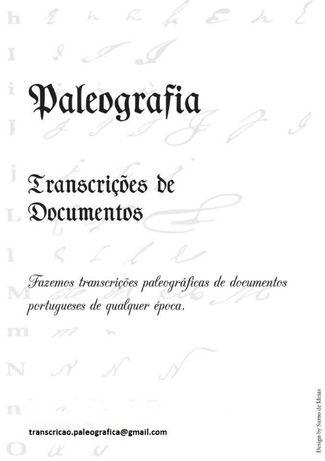 PALEOGRAFIA fazemos transcrições textos antigos