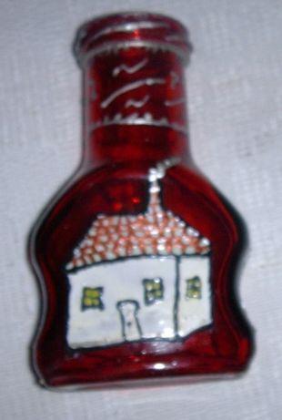 Ręcznie malowany farbami do szkła (niezmywalne) wazonik, wysyłka