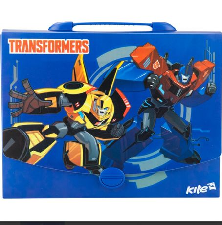 Портфель-коробка папка Kite Transformers A4 Трансформеры