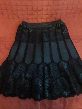 Женская юбка кожаная