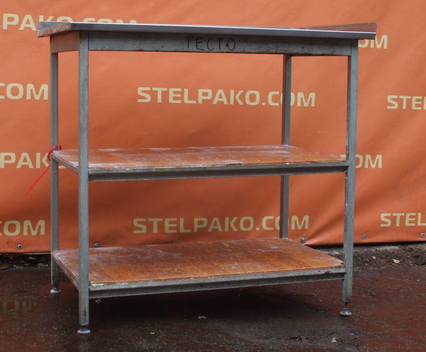 Производственный стол на металл. основе с 2-мя полками, Б/у 77330 Киев - изображение 1