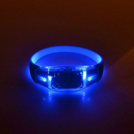 Opaska bransoletka świecąca diody LED nadgarstek rękę biegania koncert