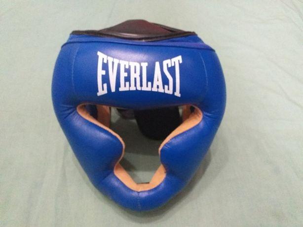 Кожанный боксерский шлем LEV с полной защитой