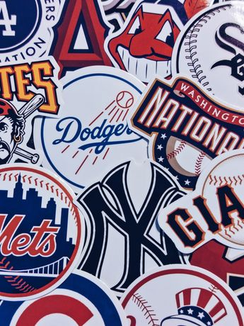 Stickers Autocolantes Baseball Basketball Futebol Desporto Yankees NY