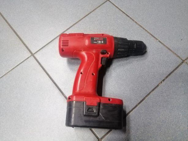 WKRETARKA PRO WORK KAS18-2, 2 X akumulator, zepsuta ładowarka