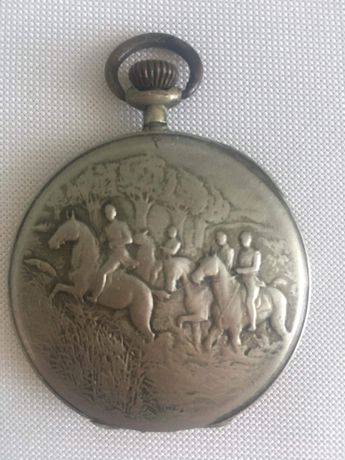 Szwajcarski  srebrny zegarek kieszonkowy po pradziadku