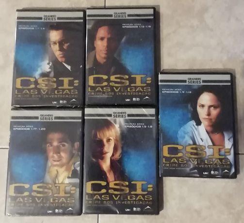 5 DVDs CSi Las Vegas Novos