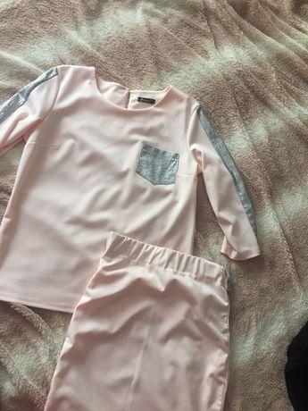 яркий женский костюм юбка кофточка блузка женский s  zara hm kors