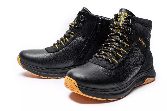 ZANGAK детские подростковые кожаные зимние ботинки кроссовки на меху
