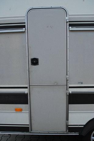 Drzwi wejściowe z zamkiem, ramą do przyczepy kempingowej