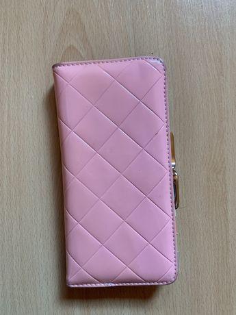 Portfel, portmonetka różowa pikowana