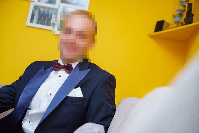 Garnitur Smoking Ślubny + Koszula Gratis firmy LANCERTO