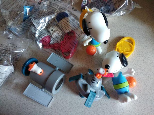 Peanuts Fistaszki piesek Snoopy - całe komplety z Mc Donald's + nowe