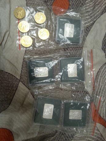 zestaw 2 monet HUSARZ XVII w. - srebrna i NG