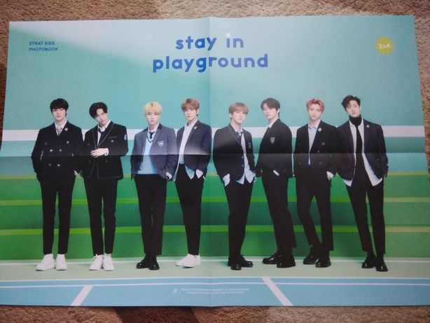 Официальный постер Stray kids из фотобука Stay in playground, плакат