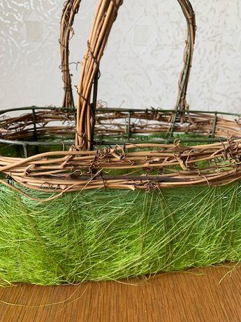 Almi Decor koszyki ozdobne koszyczki wiklina drewno komplet